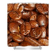 Dark Roasted Coffee Beans Shower Curtain