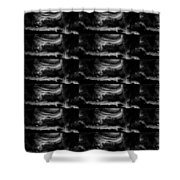 Dark Shade Crystal Stone Based Graphic Art Black Download Multipurpose Shower Curtain