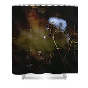 Dark Thistle Shower Curtain