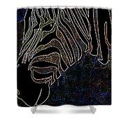 Dark Zebra Shower Curtain