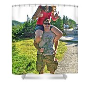 Couple From Saskatchewan On Skyline Trail In Cape Breton Highlands National Park-nova Scotia-canada  Shower Curtain