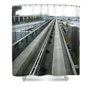 Dart Central Station - Des Moines Shower Curtain