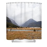 Dart River Valley Rain Clouds Mt Aspiring Np Nz Shower Curtain