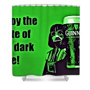 Darth Drinks Guinness Shower Curtain