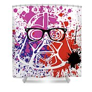 Darth Vader Corrective Lenses Shower Curtain