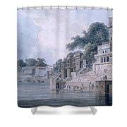 Dasasvamedha Ghat, Benares, Uttar Shower Curtain