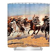 Dash For The Timber Shower Curtain