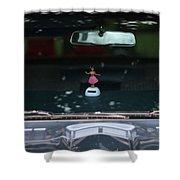 Dashboard Hula Girl Shower Curtain