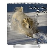 Dashing Through The Snow Shower Curtain