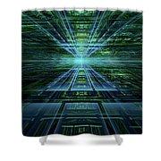Data Pathways Shower Curtain