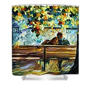 Date On The Bench Shower Curtain