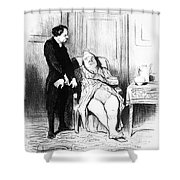 Daumier: Doctor Cartoon Shower Curtain