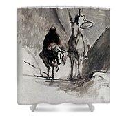 Daumier: Don Quixote Shower Curtain