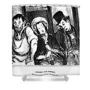 Daumier Omnibus, 1841 Shower Curtain