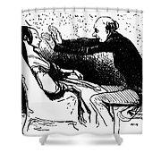 Daumier: The Hypnotist Shower Curtain