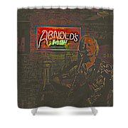Dave Hawkins Abstract Shower Curtain