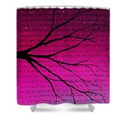 Dave Matthews Band Crush Lyric Art - Pink Shower Curtain