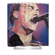 Dave Matthews Colorful Full Band Series Shower Curtain by Joshua Morton