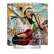 Dave Matthews Shotgun Shower Curtain by Joshua Morton