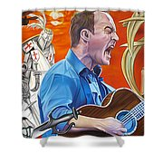 Dave Matthews The Last Stop Shower Curtain by Joshua Morton