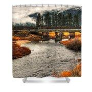 Daveys Bridge Shower Curtain