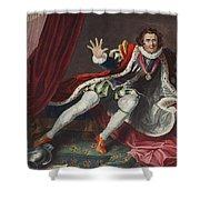 David As Richard IIi, Illustration Shower Curtain