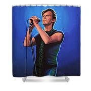 David Bowie 2 Painting Shower Curtain