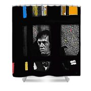 David Carradine Jail Young Billy Young Old Tucson Sound Stage Tucson Arizona 1968 Shower Curtain