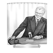 David Letterman Shower Curtain