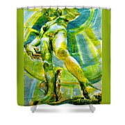 David Revisited Shower Curtain