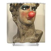 David With Makeup And Clown Nose 1 Shower Curtain