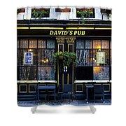 David's Pub Shower Curtain