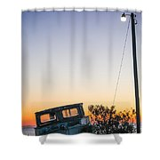 Davis Aground Shower Curtain