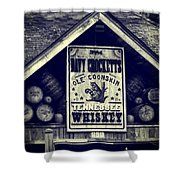 Davy Crocketts Tennessee Whiskey Shower Curtain