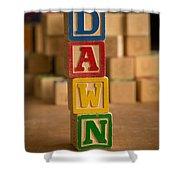Dawn - Alphabet Blocks Shower Curtain