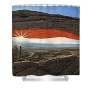 Dawn At Mesa Arch Canyonlands Utah Shower Curtain