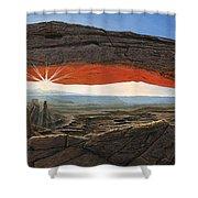 Dawn At Mesa Arch Canyonlands Utah Shower Curtain