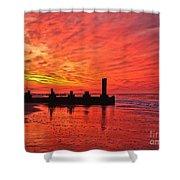 Dawn At The Beach Shower Curtain