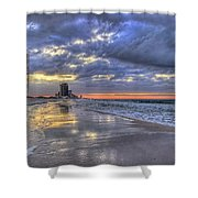 Dawn At The Cottages Of Romar Shower Curtain