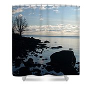 Dawn At The Cove Shower Curtain