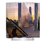 Dawn At The Empty Sky Memorial Shower Curtain