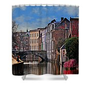 Dawn In Bruges Shower Curtain