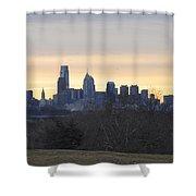 Dawn In Philadelphia Shower Curtain