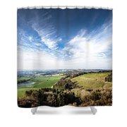 Dawn Landscape In Springtime Shower Curtain