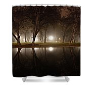 Dawn Mist Rising At Sycamore Pool  Shower Curtain