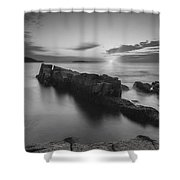 Dawn Of A New Day Bw Shower Curtain