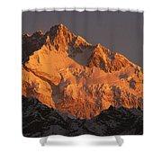 Dawn On Kangchenjunga Talung Shower Curtain