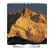 Dawn On Kangchenjunga Talung Face Shower Curtain