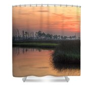Dawn On The Bayou Shower Curtain