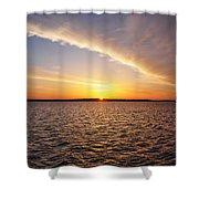 Dawn On The Chesapeak - St Michael's Maryland Shower Curtain